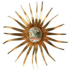 Italian Sunburst Sconce or Table Lamp