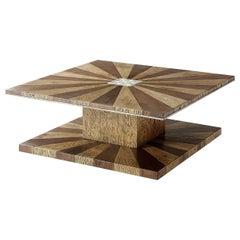 Italian Sunburst Square Coffee Table