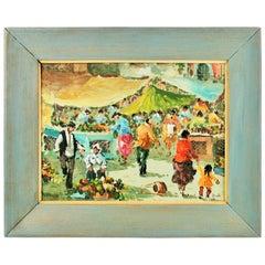 Italian Sunday Market Painting