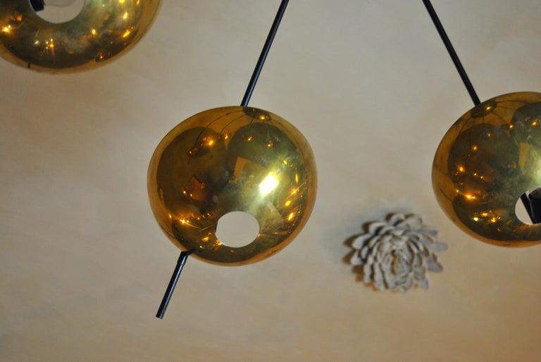 Italian Suspension Chandelier in Brass by Cellule Creative Studio for Misia Arte In New Condition For Sale In bari, IT