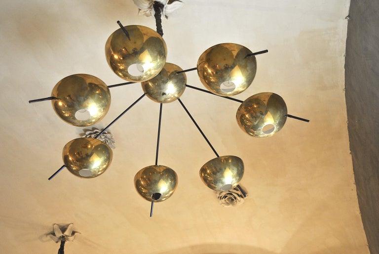 Contemporary Italian Suspension Chandelier in Brass by Cellule Creative Studio for Misia Arte For Sale