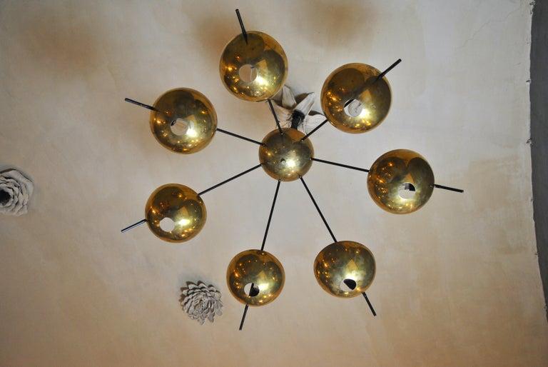 Italian Suspension Chandelier in Brass by Cellule Creative Studio for Misia Arte For Sale 3