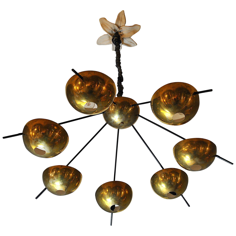 Italian Suspension Chandelier in Brass by Cellule Creative Studio for Misia Arte