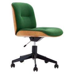 Italian Swivel Chair in Oak by Ico Parisi for MIM Roma, 1960s