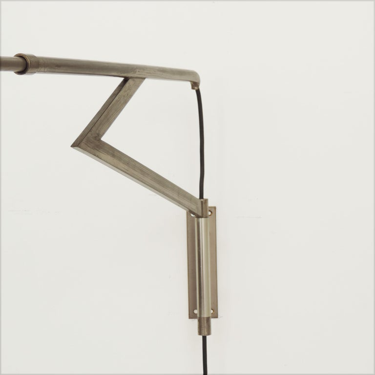 Lacquered Italian Swivel Wall Lamp, 1950s For Sale