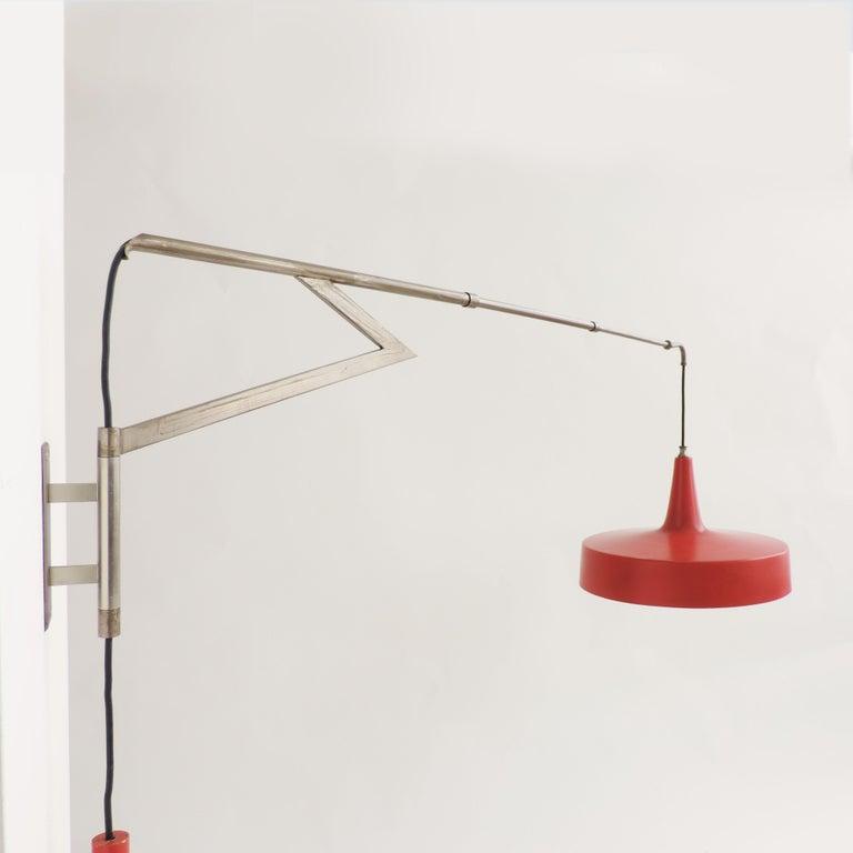 Italian Swivel Wall Lamp, 1950s In Good Condition For Sale In Milan, IT