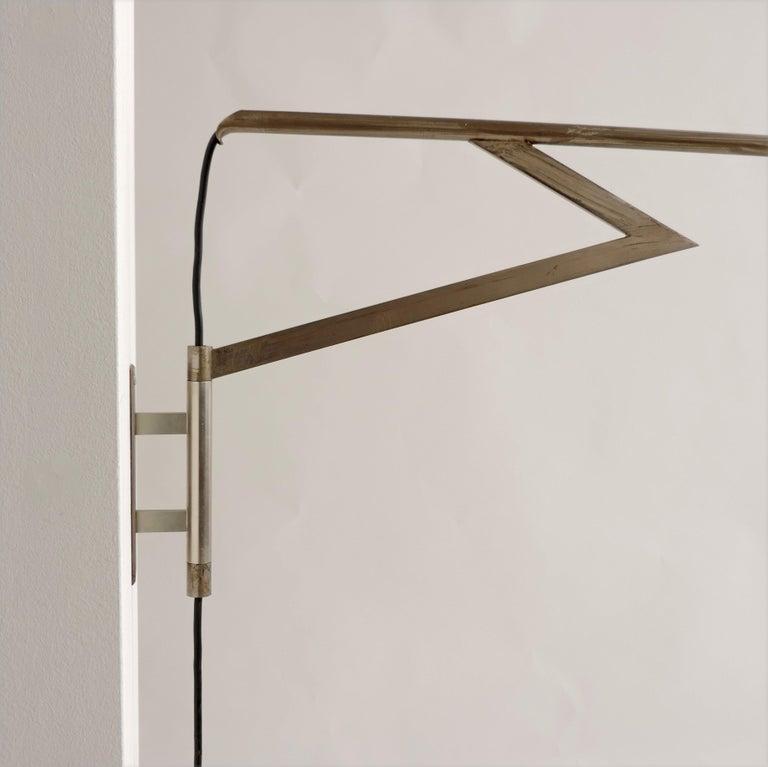 Aluminum Italian Swivel Wall Lamp, 1950s For Sale