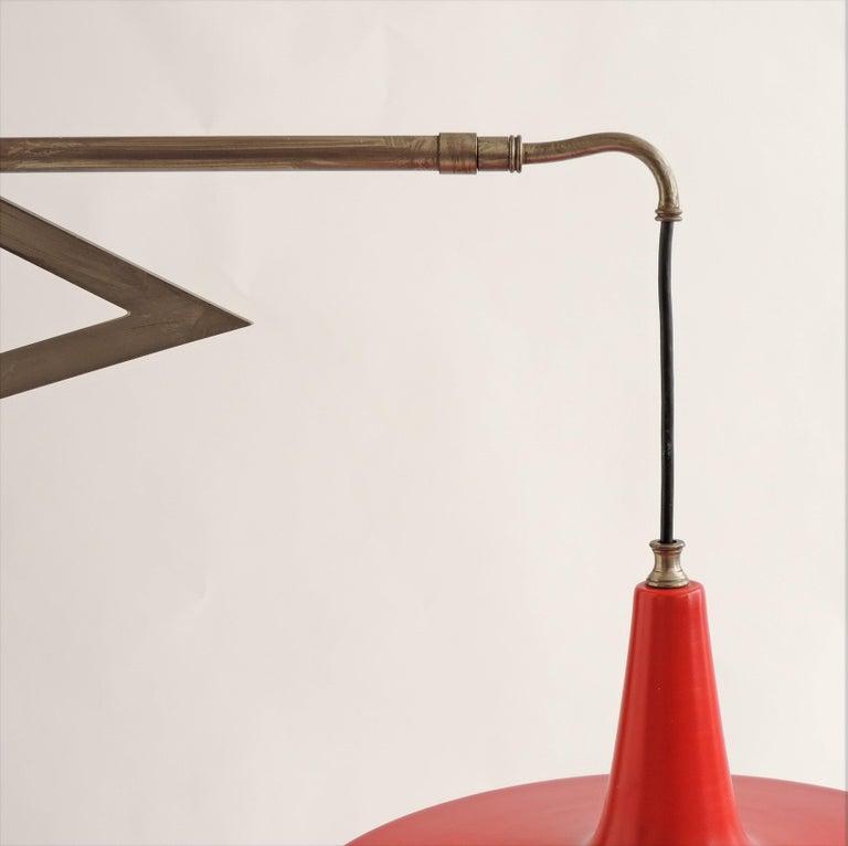 Italian Swivel Wall Lamp, 1950s For Sale 2