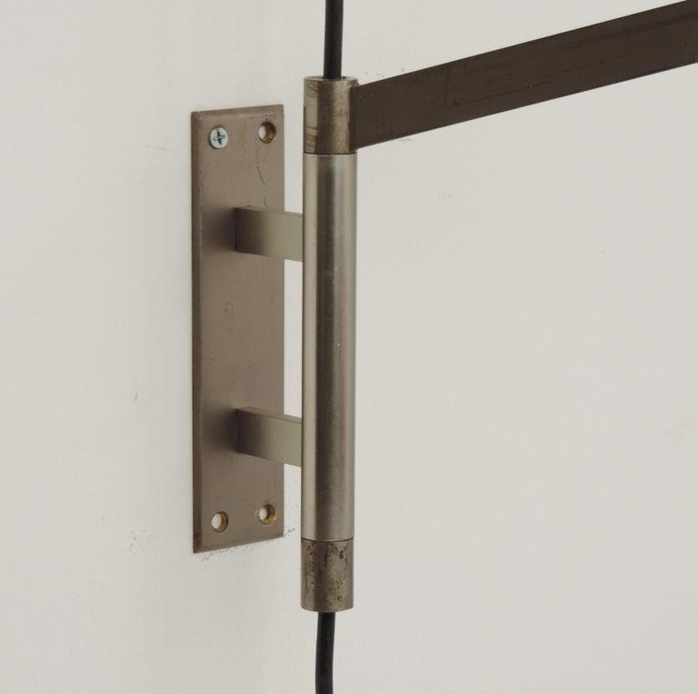 Italian Swivel Wall Lamp, 1950s For Sale 3