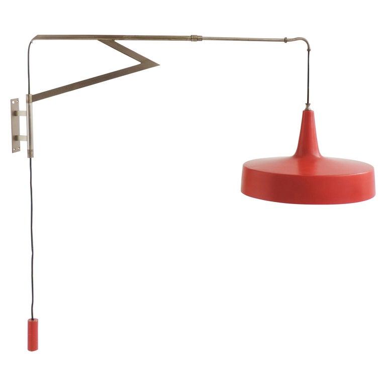 Italian Swivel Wall Lamp, 1950s For Sale