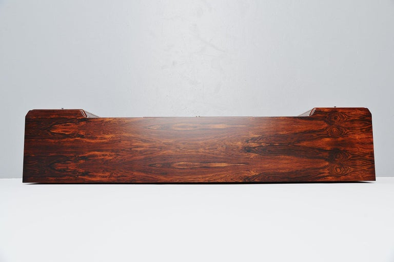 Mid-Century Modern Italian Symmetrical Rosewood Sideboard, Italy, 1960 For Sale