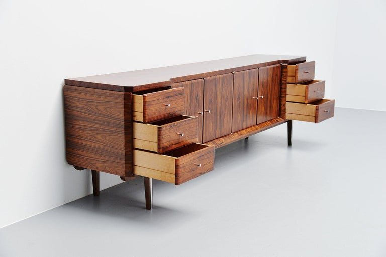Mid-20th Century Italian Symmetrical Rosewood Sideboard, Italy, 1960 For Sale