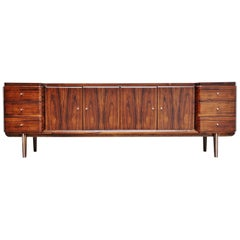 Italian Symmetrical Rosewood Sideboard, Italy, 1960