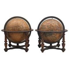 Italian Table Globes circa 19th Century After Cassini