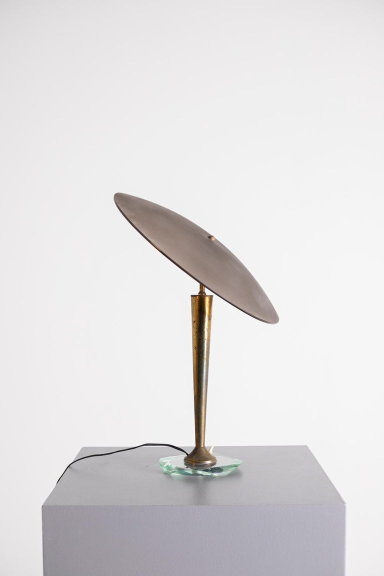 Italian Table Lamp by Fontana Arte Signed Fx Attributed to Pietro Chiesa, 1950s For Sale 6