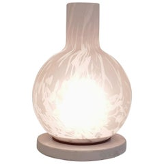 Italian Table Lamp in Marble and Murano Glass