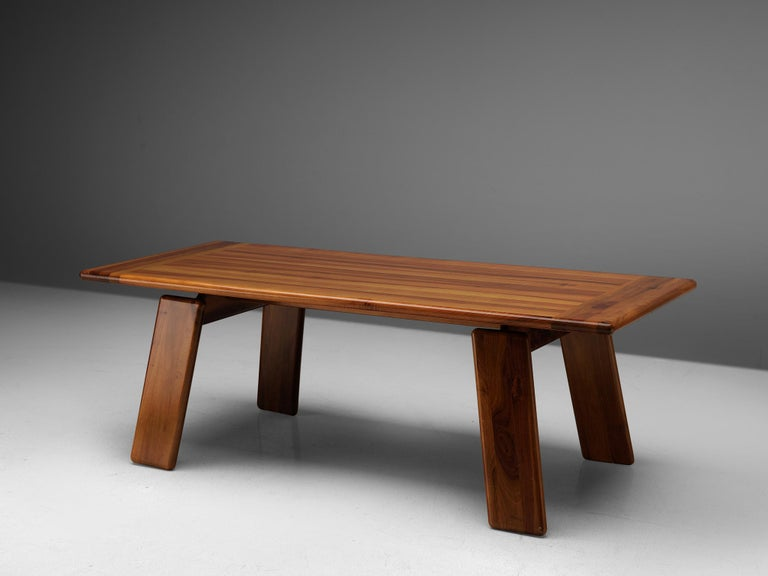 Sapporo for Mobil Girgi, dining table, walnut, Italy, 1970s.