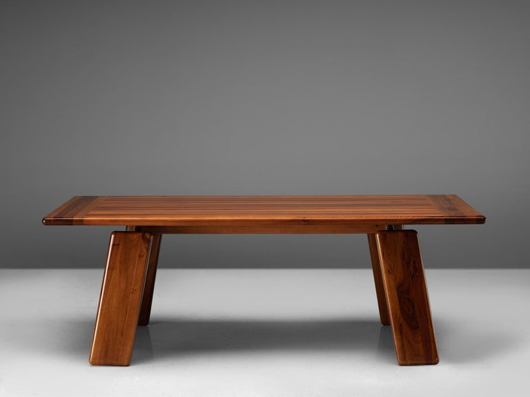 Mid-Century Modern Italian Table Sapporo for Mobil Girgi in Walnut, 1970s For Sale