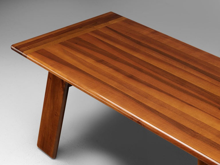 Late 20th Century Italian Table Sapporo for Mobil Girgi in Walnut, 1970s For Sale