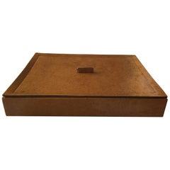 Italian Tan Hide Box by B. Home Interiors 'Giobagnara'