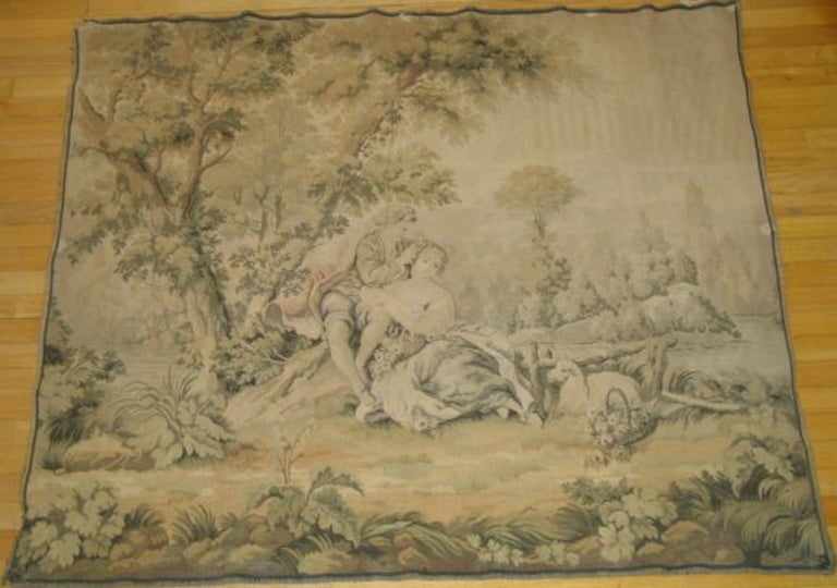 Italian Tapestry In Fair Condition For Sale In Douglas Manor, NY