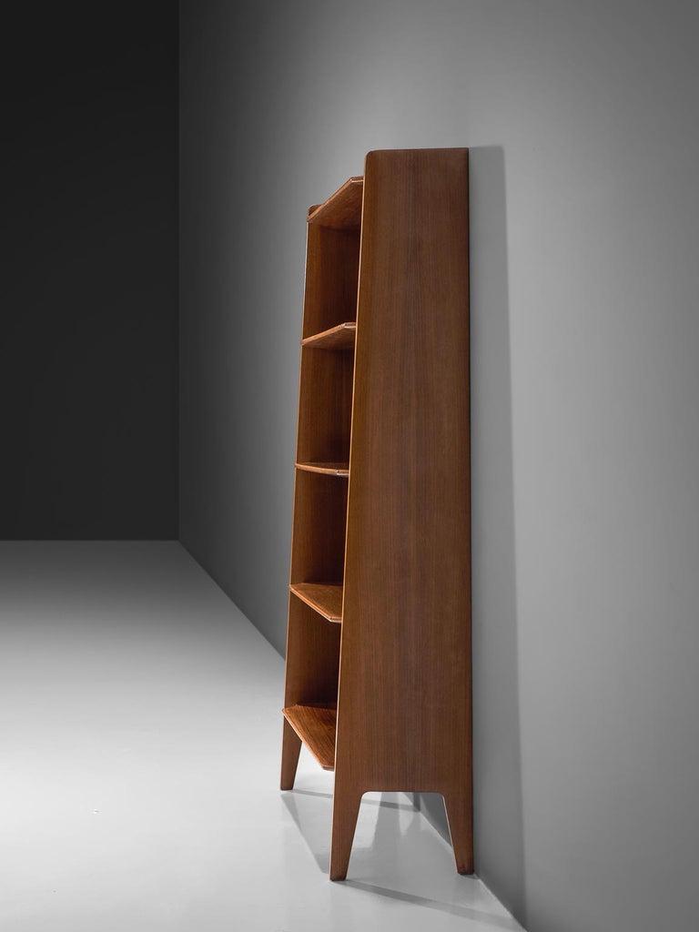 Mid-Century Modern Italian Teak Bookcase, 1960s For Sale