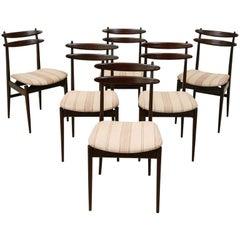 Italian Teak Dining Chairs by Vittorio Dassi, Set of 6