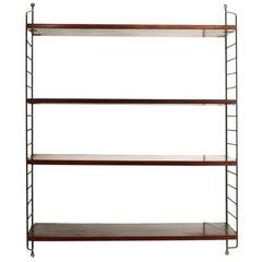 Italian Teak Wall Shelves Unit, 1960s