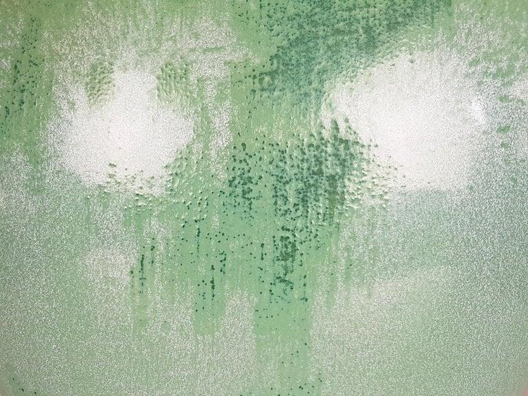 Italian Teal Green Ceramic 1940s Vase by Guido Andloviz for SCI Laveno For Sale 1