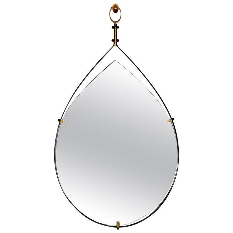 Italian Teardrop Mirror For Sale