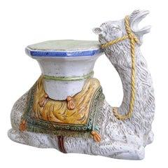Italian Terra Cotta Camel Garden Seat