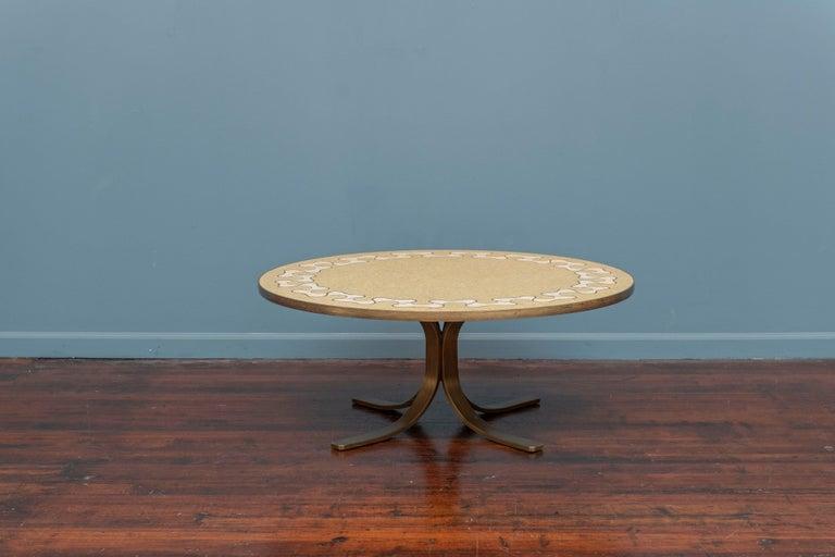 Mid-Century Modern Italian Terrazzo Coffee Table For Sale