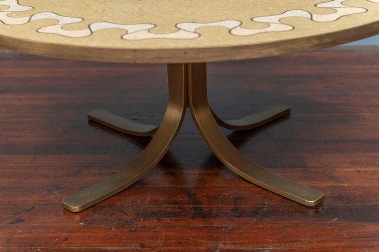 Italian Terrazzo Coffee Table In Good Condition For Sale In San Francisco, CA