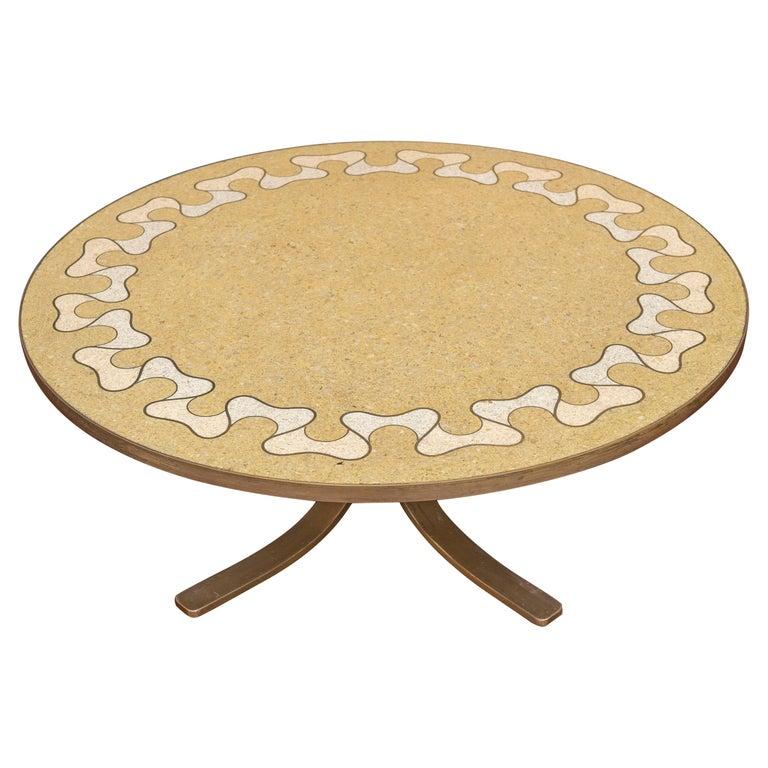 Italian Terrazzo Coffee Table For Sale