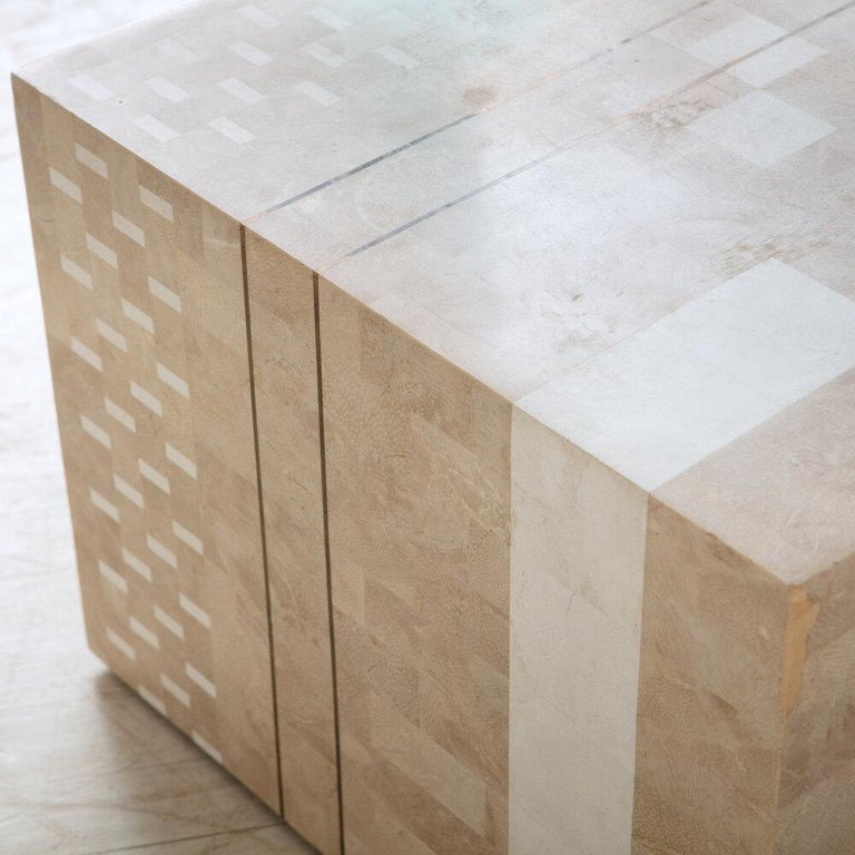 Italian Tessellated Stone Side Table In Good Condition For Sale In Chicago, IL