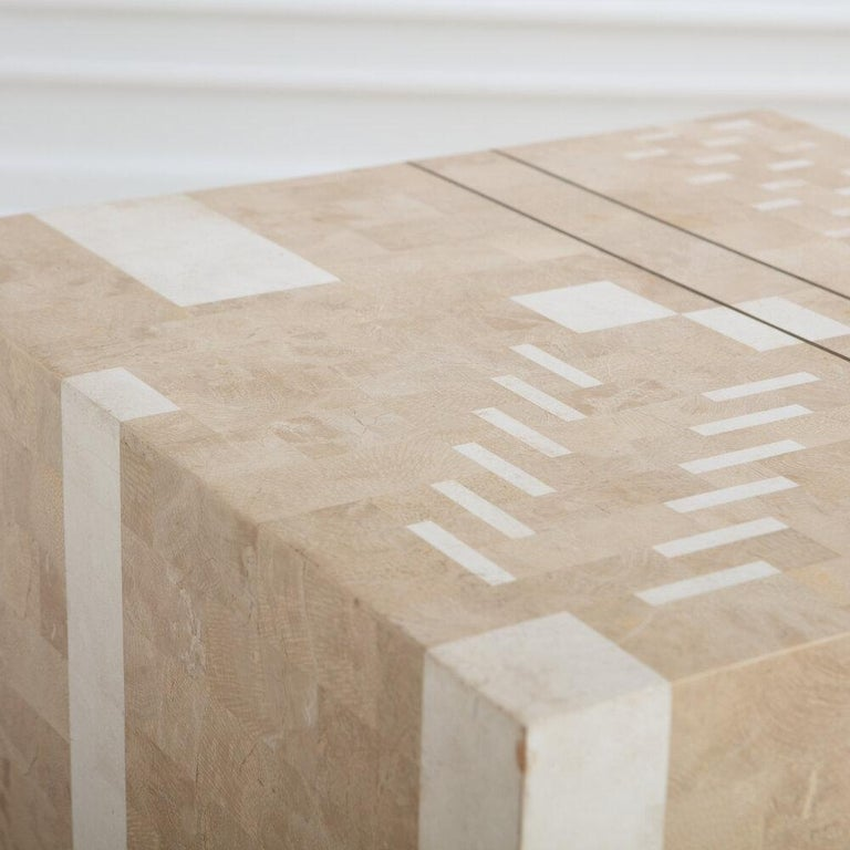 Italian Tessellated Stone Side Table For Sale 1