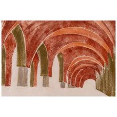 "Italian ""Theories"" Silk Panel for Wall"