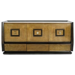 Italian Three-Door Credenza, circa 1940s