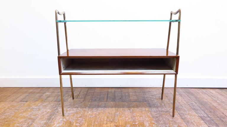 Mid-Century Modern Italian Tiered Side Table For Sale