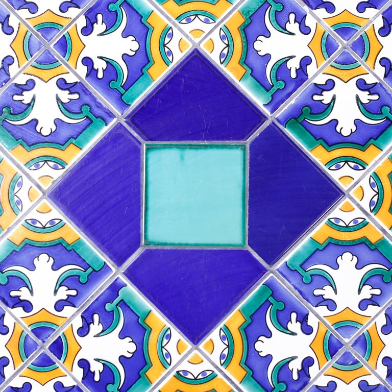 20th Century Italian Tile Top Dining Table For Sale
