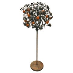 Italian Tole Metal Orange Tree