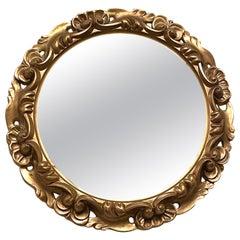 Italian Tole Toleware Chic Gilt Resin Mirror, circa 1980s