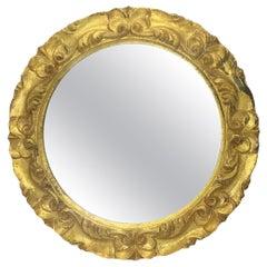 Italian Tole Toleware Chic Giltwood Mirror, circa 1960s