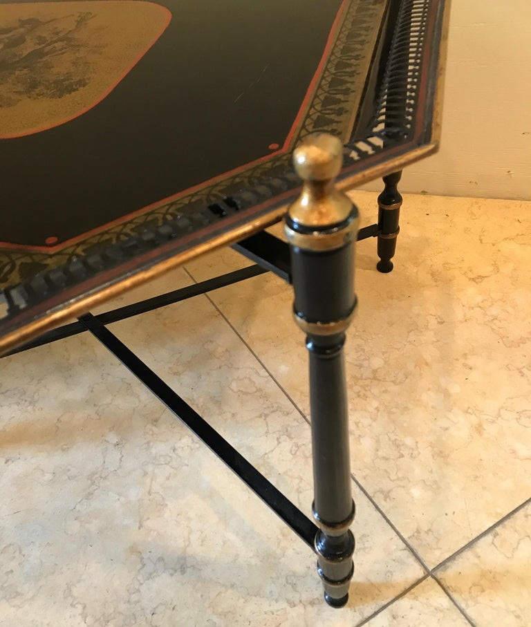 Italian Tole Tray Table For Sale 2