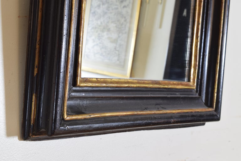 Italian, Toscana, Giltwood and Ebonized Mirror, Mid 17th Century For Sale 3