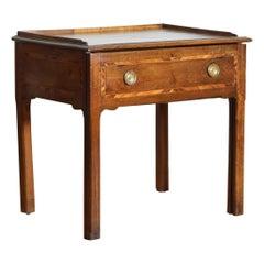 Italian, Toscana, Walnut and Inlaid Metamporhic Writing Table/Desk, circa 1800