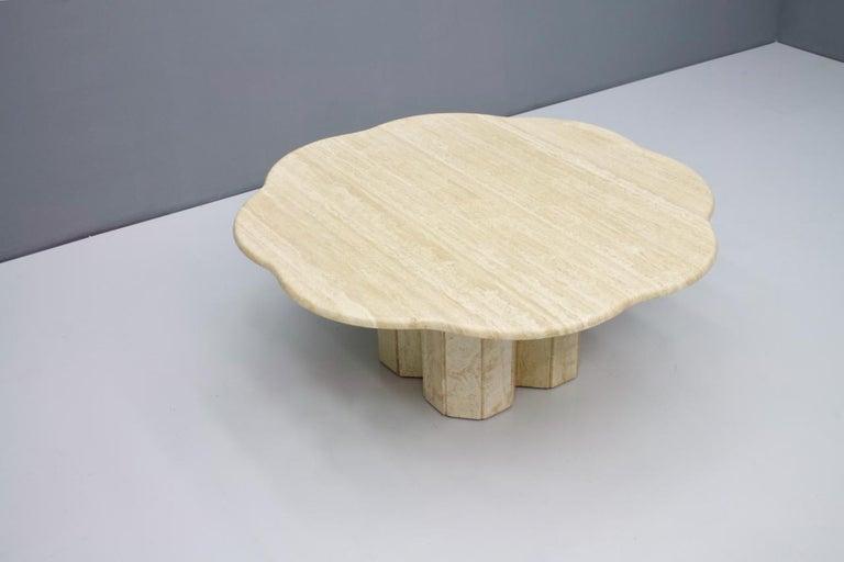 Mid-Century Modern Italian Travertine Coffee Table, 1970s