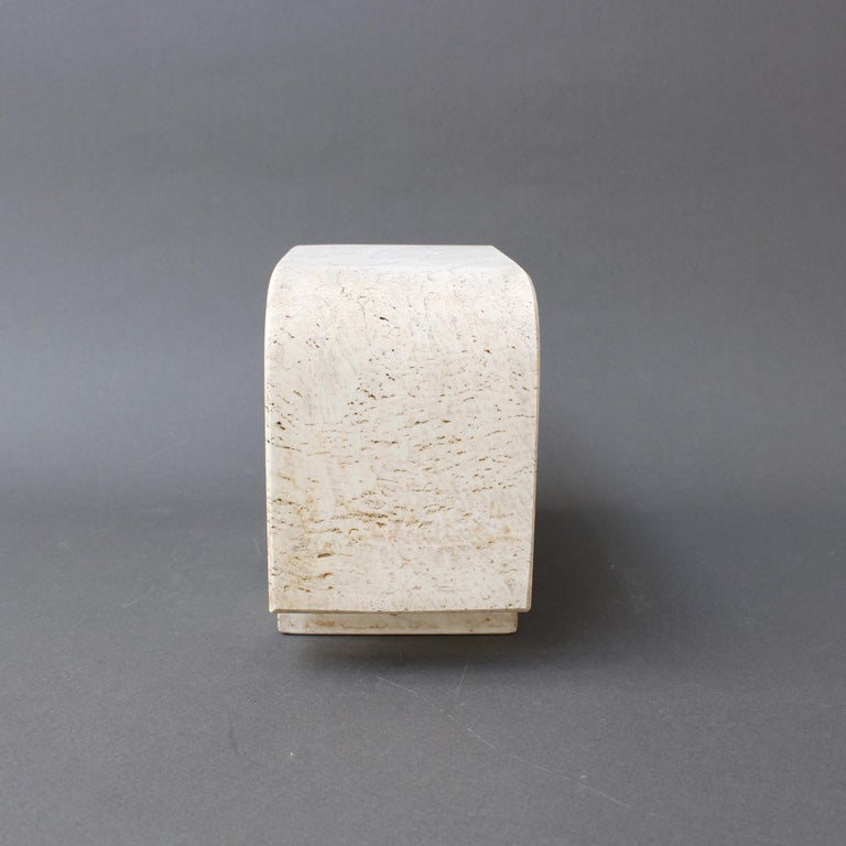 Late 20th Century Italian Travertine Elephant Sculpture by Fratelli Mannelli, circa 1970s For Sale