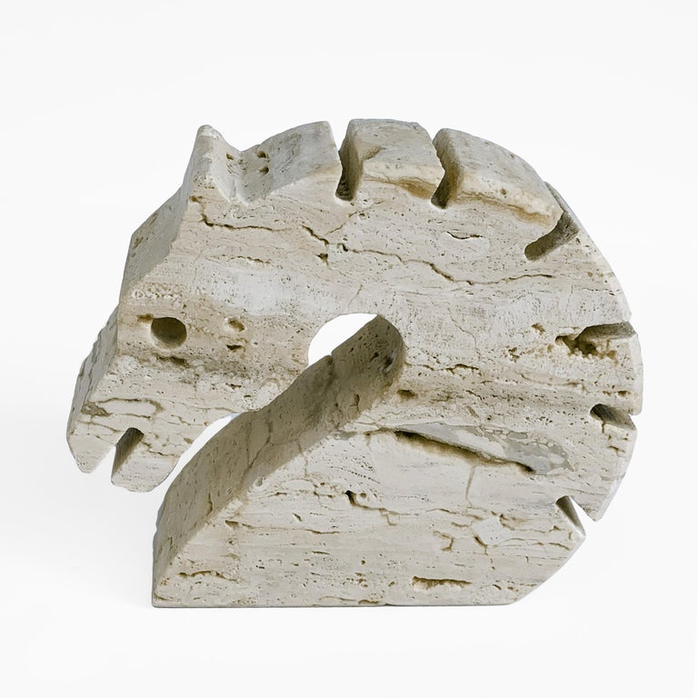 Italian Travertine, Fratelli Mannelli Letter Holder, Desk Accessory Italy, 1970s In Good Condition For Sale In Roma, IT