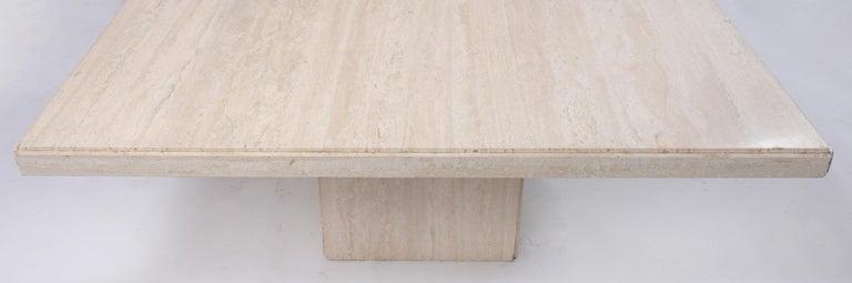 Mid-Century Modern Italian Travertine Stone Dining Table For Sale